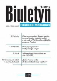 Biuletyn Edukacji Medialnej 1/2018 - okładka książki