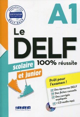 Delf 100% reussite A1 scolaire - okładka podręcznika