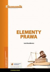 Elementy prawa. Podręcznik - okładka podręcznika