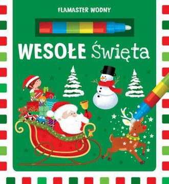 Flamaster wodny. Wesołe Święta - okładka książki