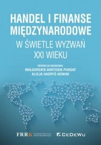 Handel i finanse międzynarodowe - okładka książki