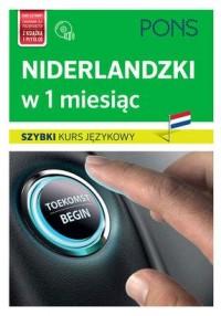 Niderlandzki w 1 miesiąc. Szybki kurs językowy (+ CD) - okładka podręcznika