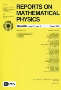 Reports on Mathematical Physics 82/1 Kraj - okładka książki