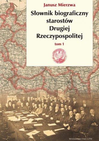 Słownik biograficzny starostów - okładka książki