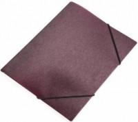 Teczka na gumkę A4 simple bordowy - zdjęcie produktu