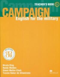 Campaign 1. Książka nauczyciela. English for the military - okładka podręcznika