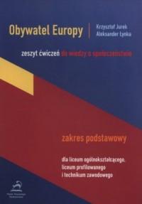 Obywatel Europy. Zeszyt ćwiczeń. Zakres podstawowy - okładka podręcznika