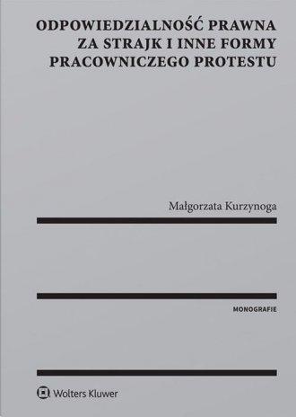 Odpowiedzialność prawna za strajk - okładka książki