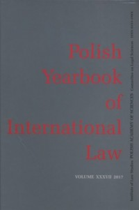 Polish yearbook of international law XXXVII/17 - okładka książki