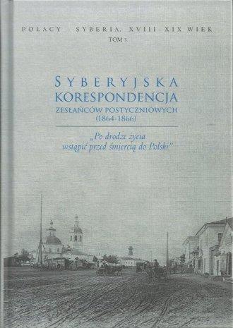 Syberyjska korespondencja zesłańców - okładka książki