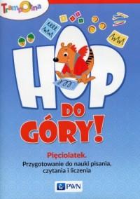 Trampolina Hop, do góry! Pięciolatek. Przygotowanie do nauki pisania, czytania i liczenia - okładka podręcznika