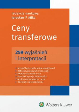Ceny transferowe. 259 wyjaśnień - okładka książki