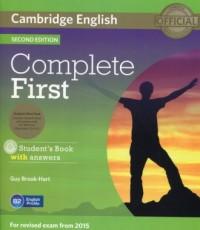 Complete First Students Book with answers (+ 3 CD) - okładka podręcznika