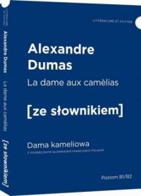 Dama kameliowa - wersja francuska z podręcznym słownikiem - okładka podręcznika