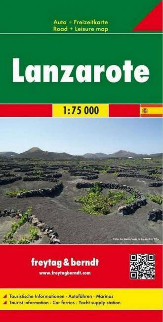 Mapa samochodowa Lanzarote 1:75 - okładka książki