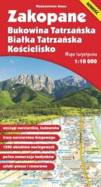 Mapa Zakopane, Bukowina Tatrzańska, Białka Tatrzańska i Kościelisko 1:10 000 - okładka książki