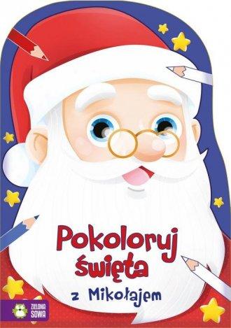 Pokoloruj święta z Mikołajem - okładka książki