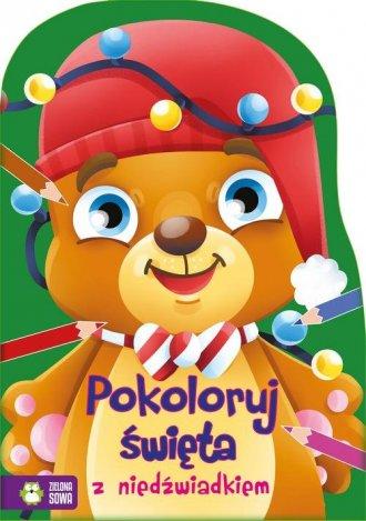 Pokoloruj święta z niedźwiadkiem - okładka książki