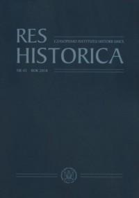 Res Historica. Nr 45 Rok 2018 - okładka książki
