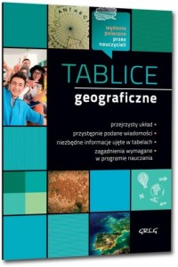Tablice geograficzne - okładka podręcznika