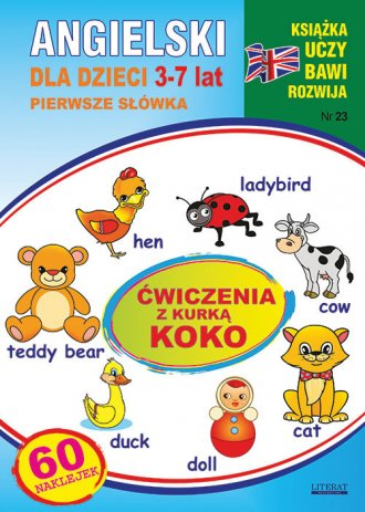 Angielski dla dzieci 3-7 lat Zeszyt - okładka podręcznika
