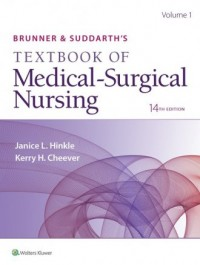 Brunner & Suddarth s Textbook of Medical-Surgical Nursing 14e - okładka książki