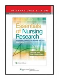 Essentials of Nursing Research 9e - okładka książki