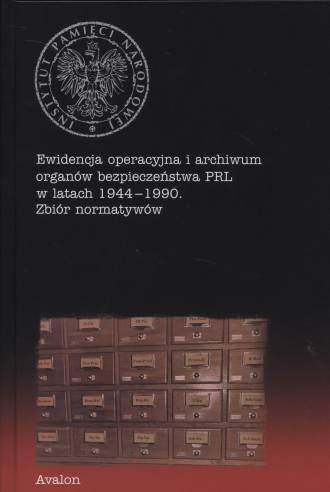 Ewidencja operacyjna i archiwum - okładka książki