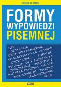 Formy wypowiedzi pisemnej - okładka podręcznika