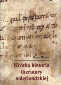 Krótka historia literatury niderlandzkiej - okładka książki