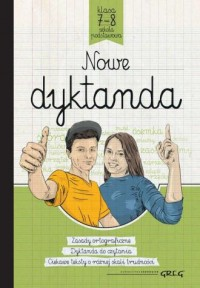 Nowe dyktanda szkoła podstawowa, klasy 7-8 - okładka podręcznika