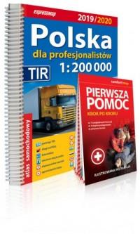 Polska dla profesjonalistów 1:200 000 Atlas samochodowy + instrukcja pierwszej pomocy 1:200 000. Wydanie 2019/2020 - okładka książki