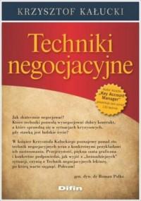 Techniki negocjacyjne - okładka książki