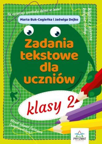 Zadania tekstowe dla uczniów klasy - okładka podręcznika