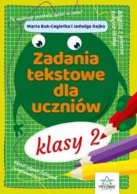Zadania tekstowe dla uczniów klasy 2 - okładka podręcznika