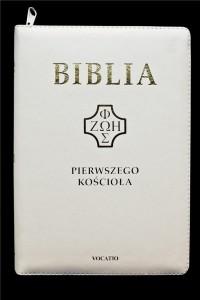 Biblia pierwszego Kościoła (biała) - okładka książki
