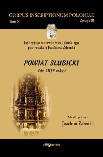 Corpus Inscriptionum Poloniae. - okładka książki