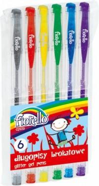 Długopis żelowy z brokatem 6 kolorów - zdjęcie produktu