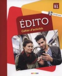 Edito B1 Cahier dactivites + CD - okładka podręcznika