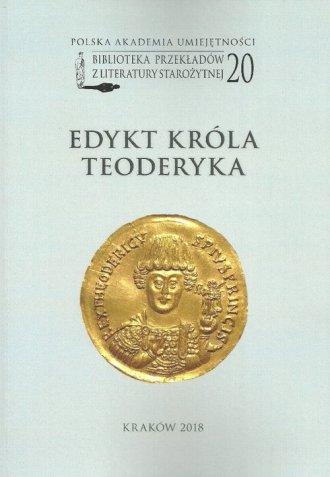 Edykt króla Teoderyka - okładka książki