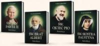 Komplet rekolekcji ze Świętymi. św. Brat Albert, św. Jan Paweł II, św. Faustyna, św. o. Pio - okładka książki