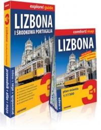 Lizbona i środkowa. Portugalia 3w1. Przewodnik+atlas mapa - okładka książki