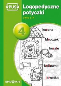 Logopedyczne potyczki 4. Głoski L-R - okładka podręcznika