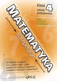 Matematyka - korepetycje - szkoła podstawowa. Klasa 4 - okładka podręcznika