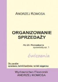 Organizowanie sprzedaży ćwiczenia - okładka podręcznika