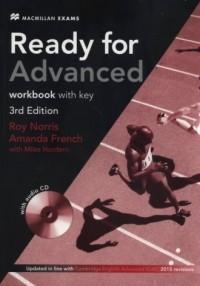 Ready for Advanced 3rd Edition Workbook with key + CD - okładka podręcznika