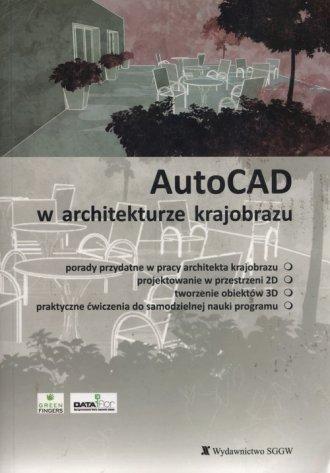 AutoCAD w architekturze krajobrazu - okładka książki