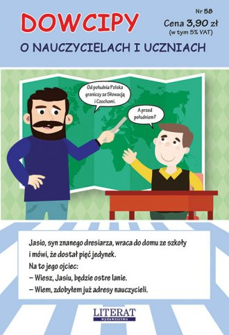 Dowcipy Nr 58. O nauczycielach - okładka książki