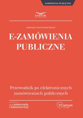 E-Zamówienia publiczne. przewodnik - okładka książki