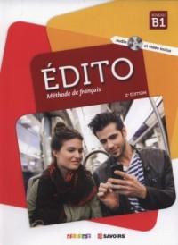 Edito B1 Methode de francais + CD - okładka podręcznika